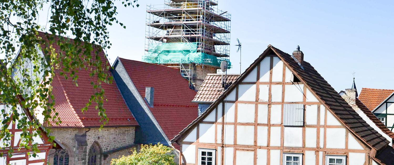 wemotec-referenzen-gerüstbau-kirche-spangenberg